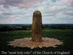 La reliquia más sagrada de la Iglesia de Inglaterra - La Lia-Fail, que algunos vinculan con la Piedra del Destino del Ciclo del Grial - Crédito Jordan Maxwell