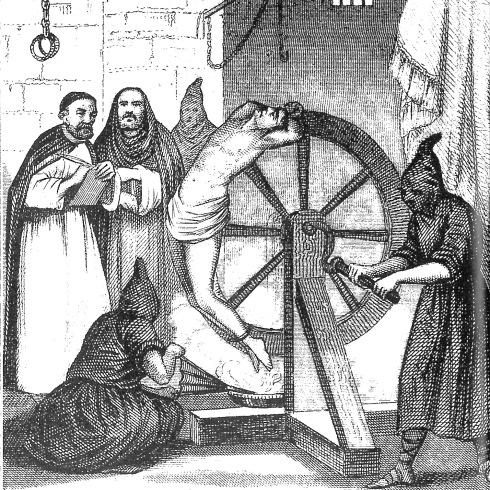 """Imagen alegórica a la """"Santa"""" Inquisición."""